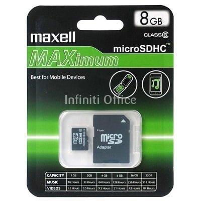 Micro SDHC CARD 8GB Maxell