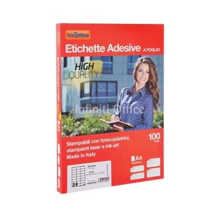 Etiketa adezive me ndarje 19 x 10 NikOffice