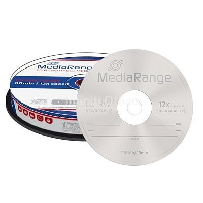 CD-RW Media Range 12x700 80 min