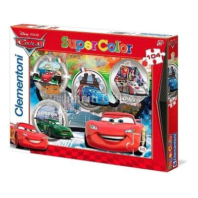 Puzzlle maxi 24 cars the world clementoni