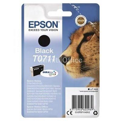 Toner Inkjet Epson T0711 Black