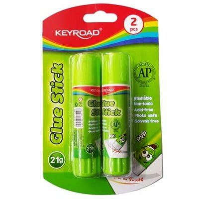 Glue Stick 21 gr PVP me varje Keyroad KR971554 (2 cope)