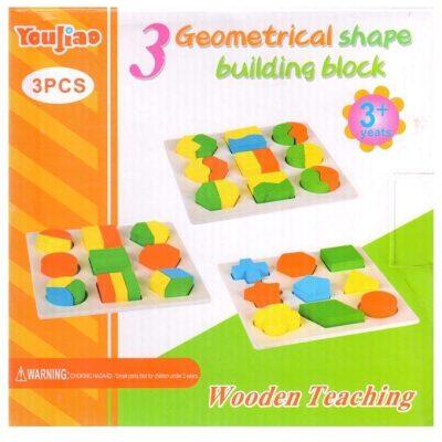 Set druri me trupa gjeometrik 3 cope