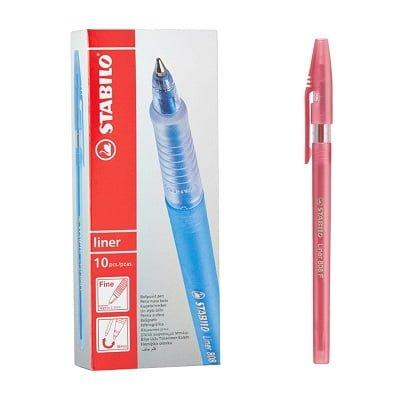 Stilolaps STABILO liner fine 808 Ballpoint i kuq