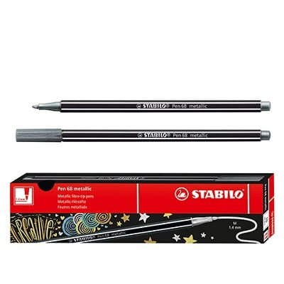 Stilopas STABILO 68 metalik ngjyre argjendi
